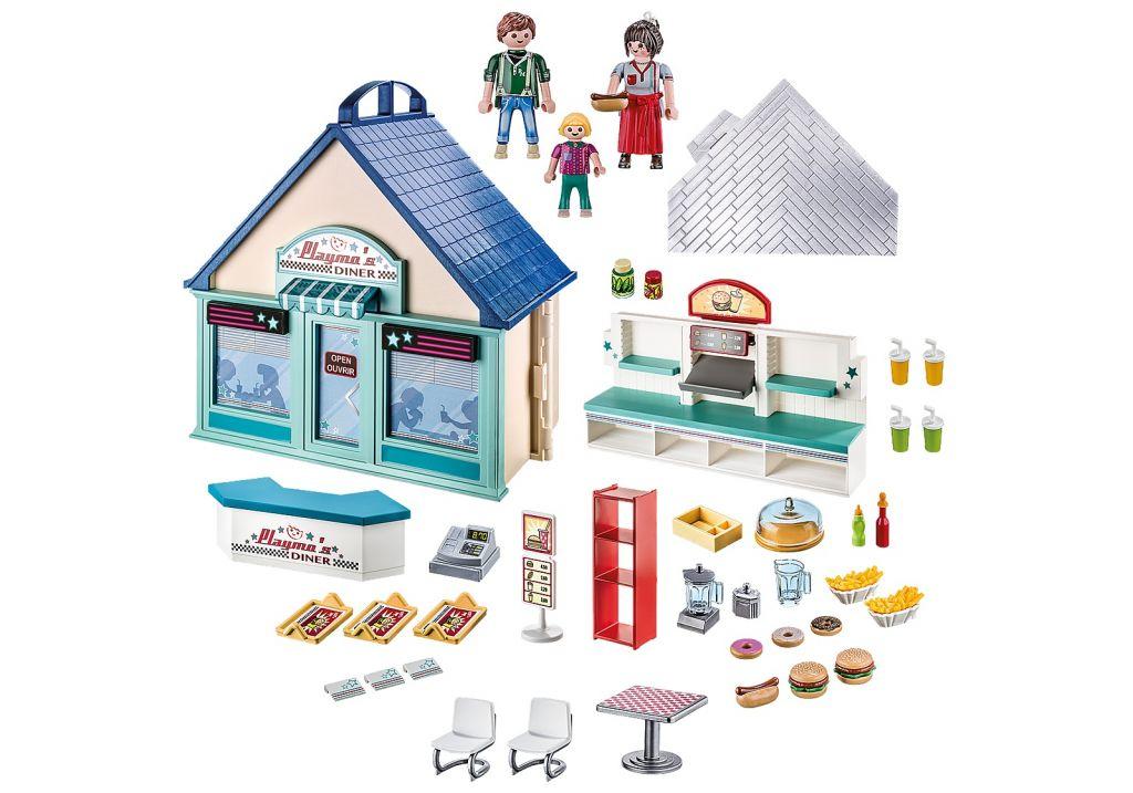 Playmobil 70111 - Take Along Diner - Back