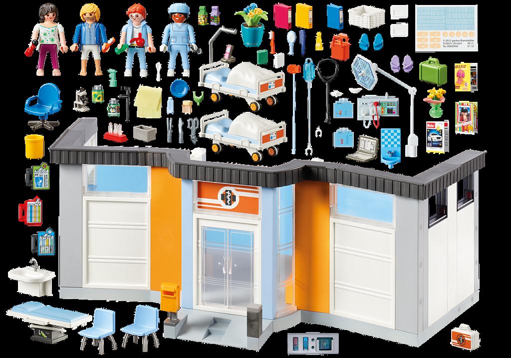 Playmobil 70191 - Hospital floor - Back