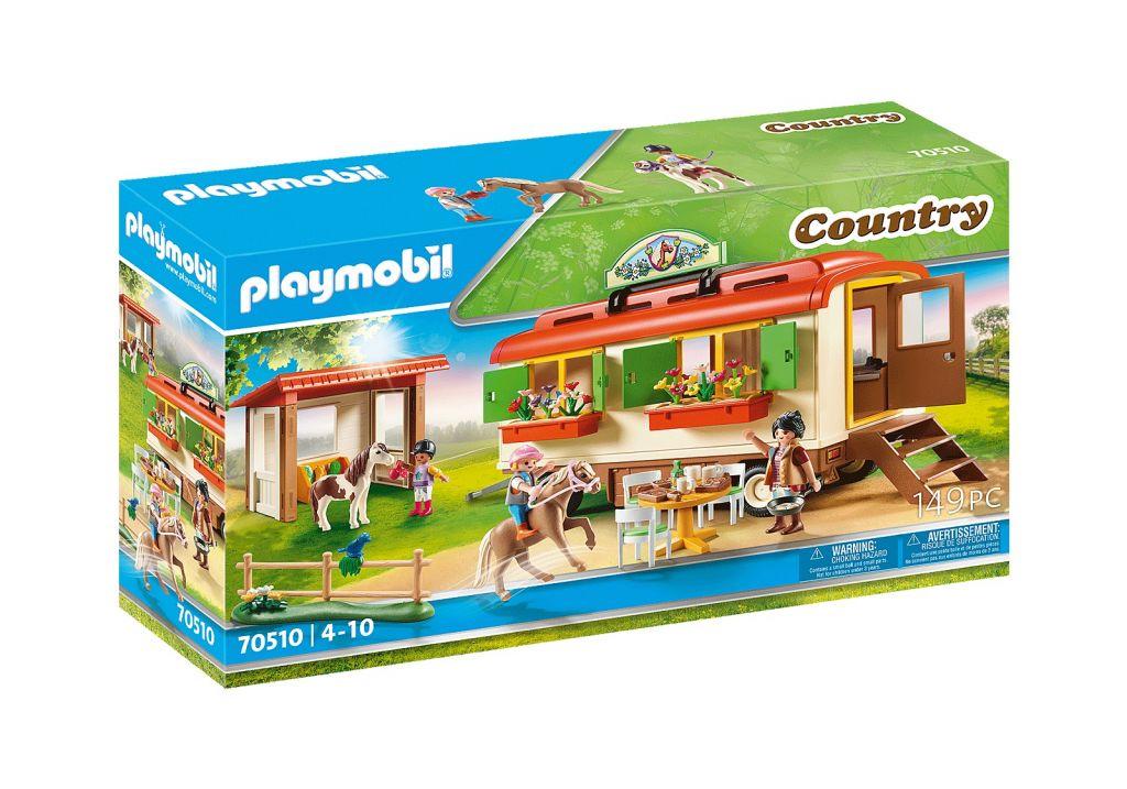 Playmobil 70510 - Pony camp caravan car - Box
