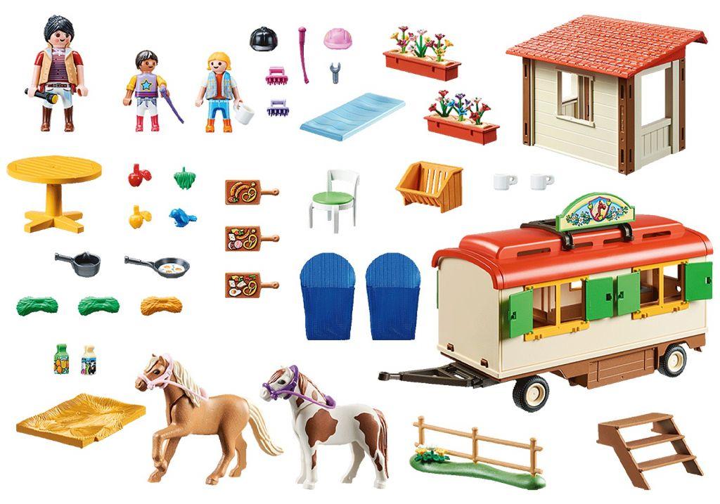 Playmobil 70510 - Pony camp caravan car - Back