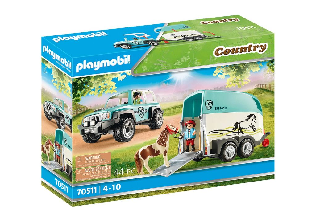 Playmobil 70511 - Car with Pony Trailer - Caja