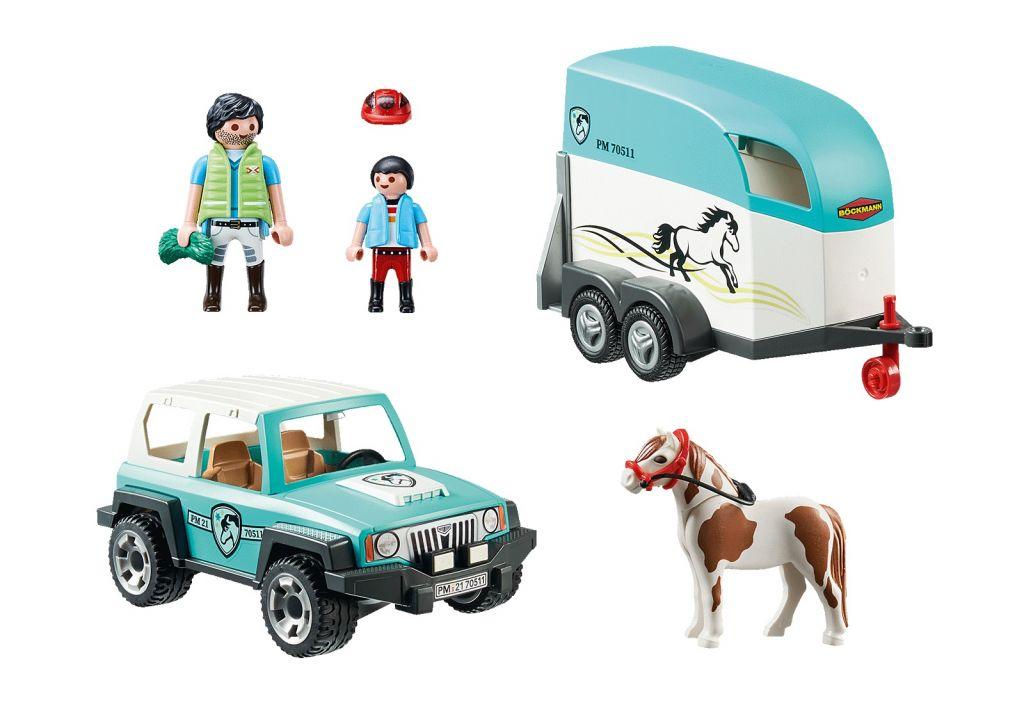 Playmobil 70511 - Car with Pony Trailer - Back