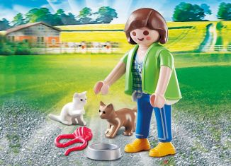 Playmobil - 70562 - Girl with Kittens