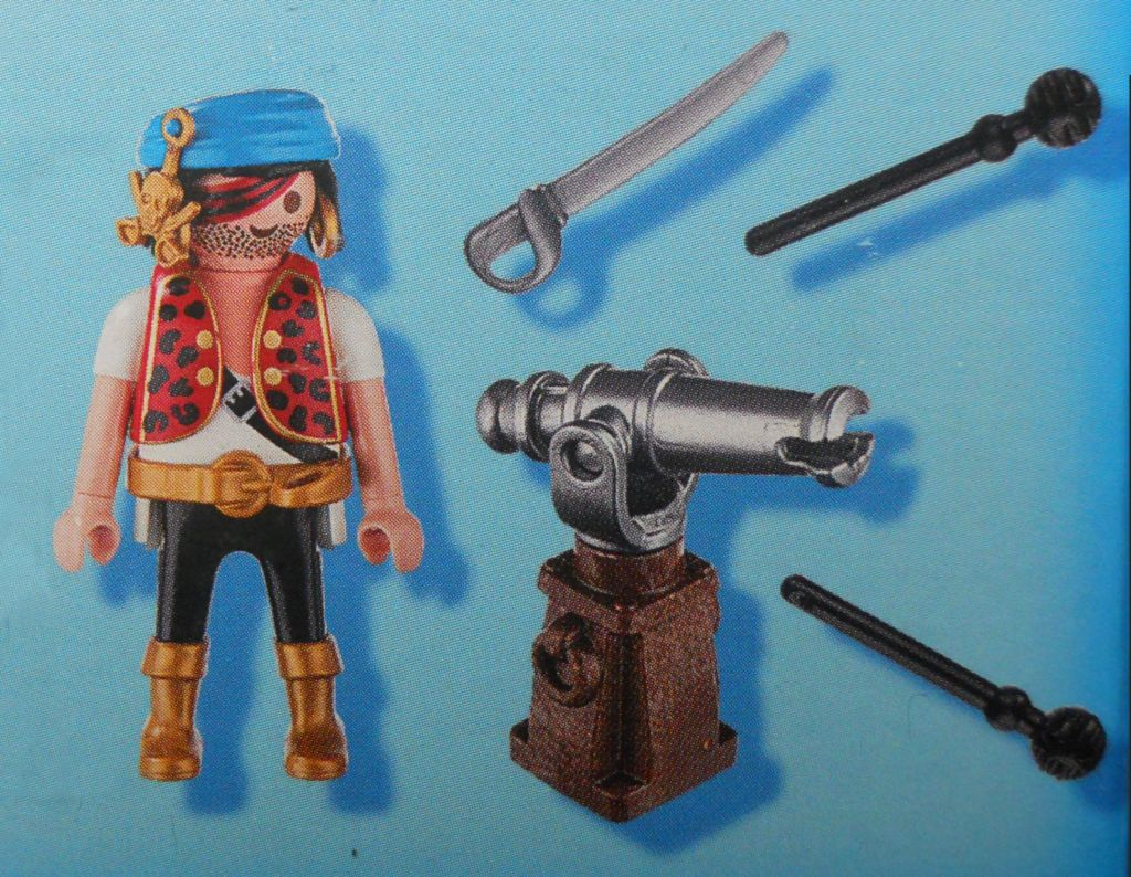 Playmobil 70433 - Pirate with cannon - Back