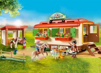 Playmobil - 70510 - Pony camp caravan car