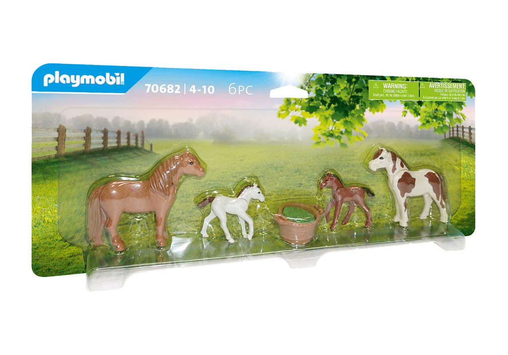 Playmobil 70682 - Ponies with foals - Box