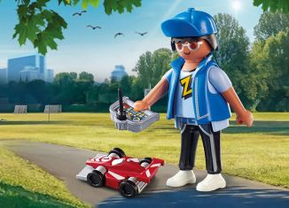 Playmobil - 70561 - Boy with RC Car