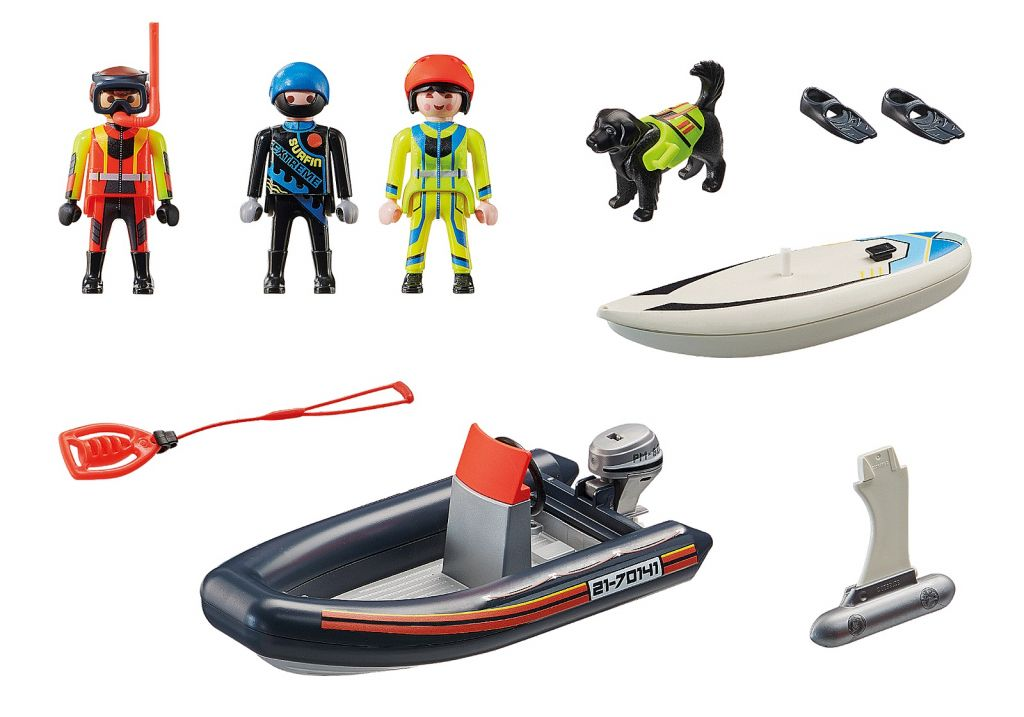 Playmobil 70141 - Water Rescue with Dog - Back