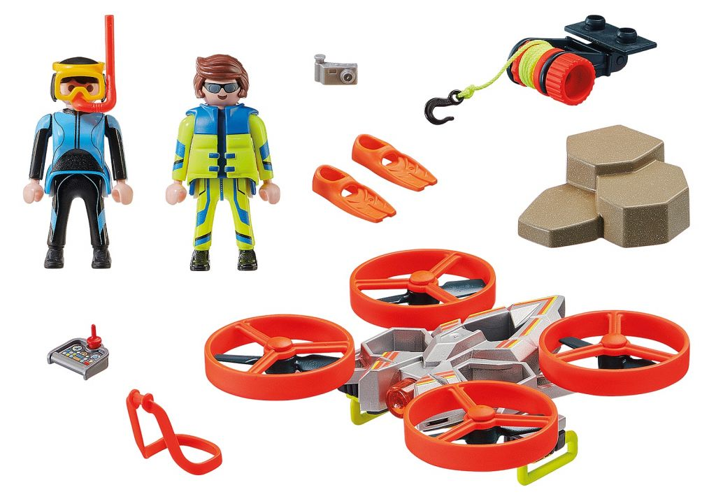Playmobil 70143 - Diver Rescue with Drone - Back