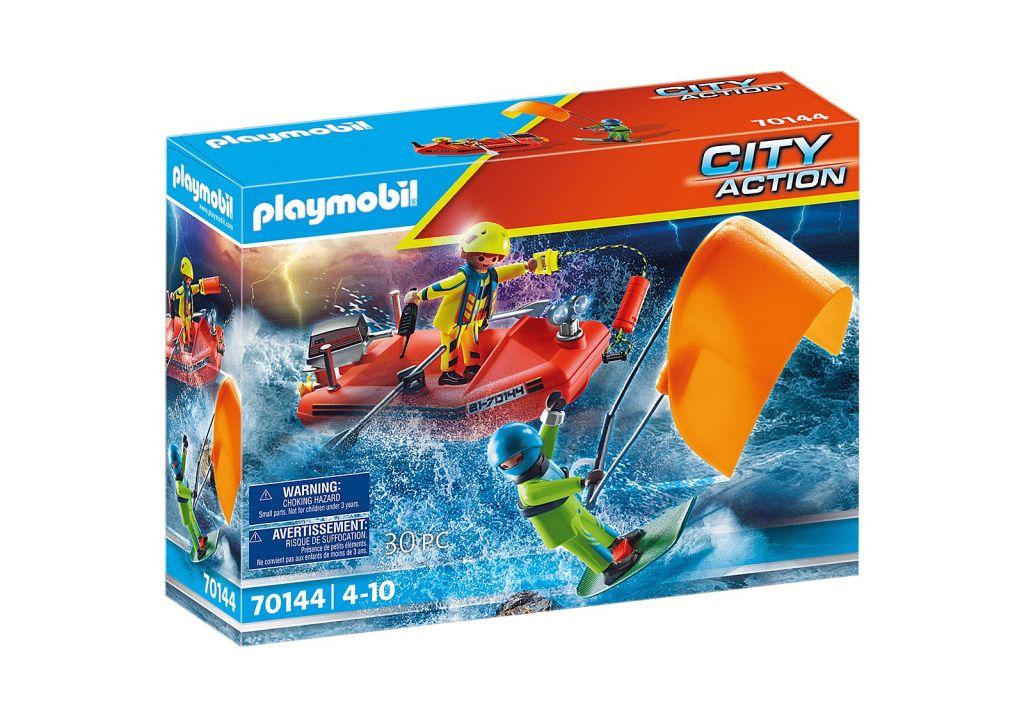 Playmobil 70144 - Kitesurfer Rescue with Speedboat - Box