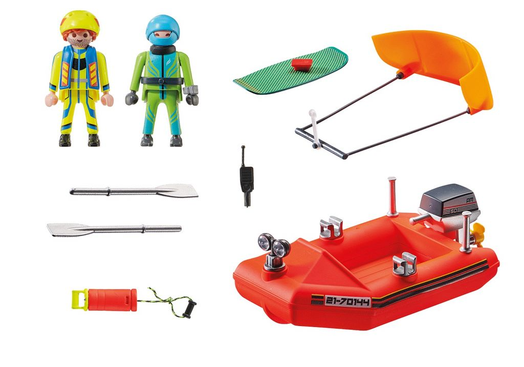Playmobil 70144 - Kitesurfer Rescue with Speedboat - Back