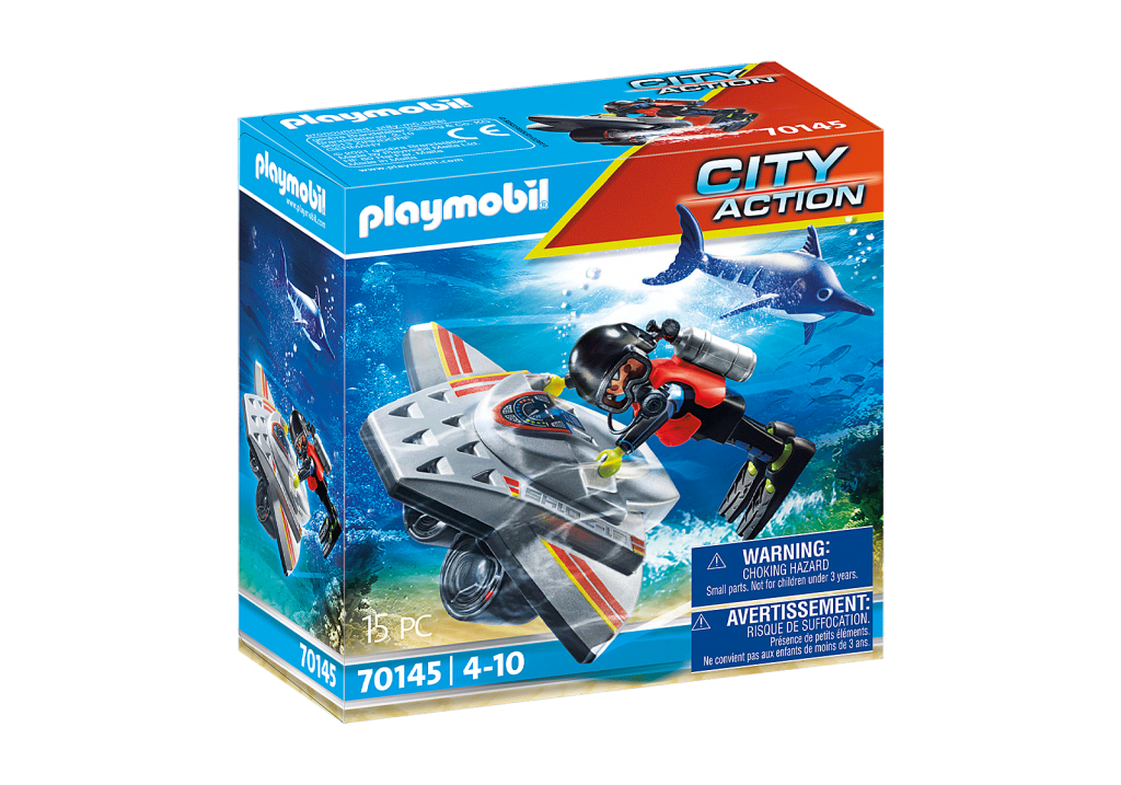 Playmobil 70145 - Diving Scooter - Box