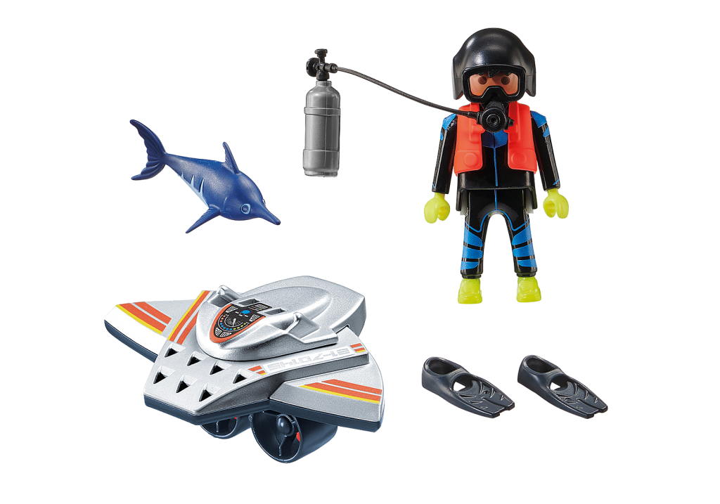 Playmobil 70145 - Diving Scooter - Back