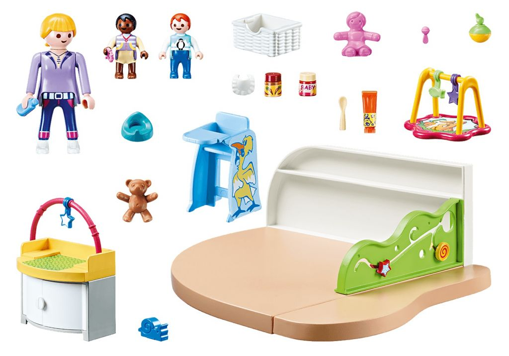 Playmobil 70282 - Toddler Room - Back