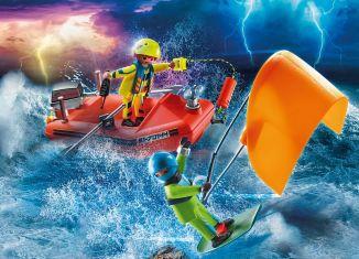 Playmobil - 70144 - Kitesurfer Rescue with Speedboat