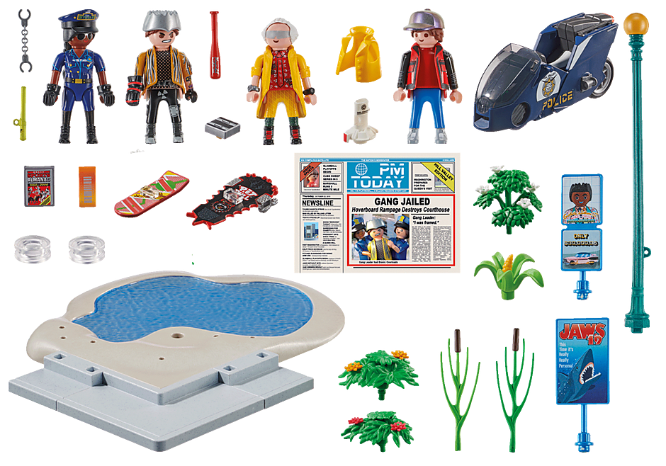 Playmobil 70634 - Hoverboard Chase - Back