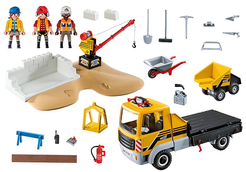 Playmobil 70742 - Construction site with dump truck - Back