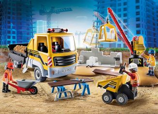 Playmobil - 70742 - Construction site with dump truck