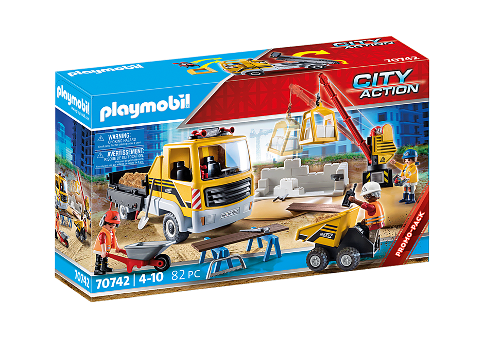 Playmobil 70742 - Construction site with dump truck - Box