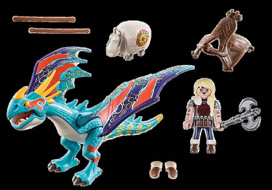 Playmobil 70728 - Dragon Racing: Astrid with Stormfly - Back
