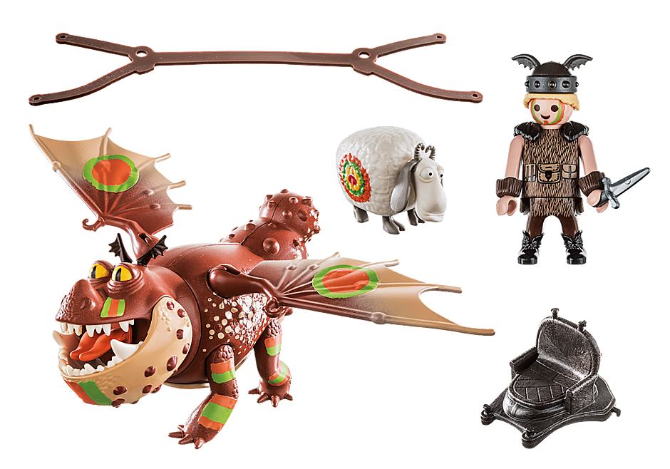 Playmobil 70729 - Dragon Racing: Meatlug and Fishlegs - Back