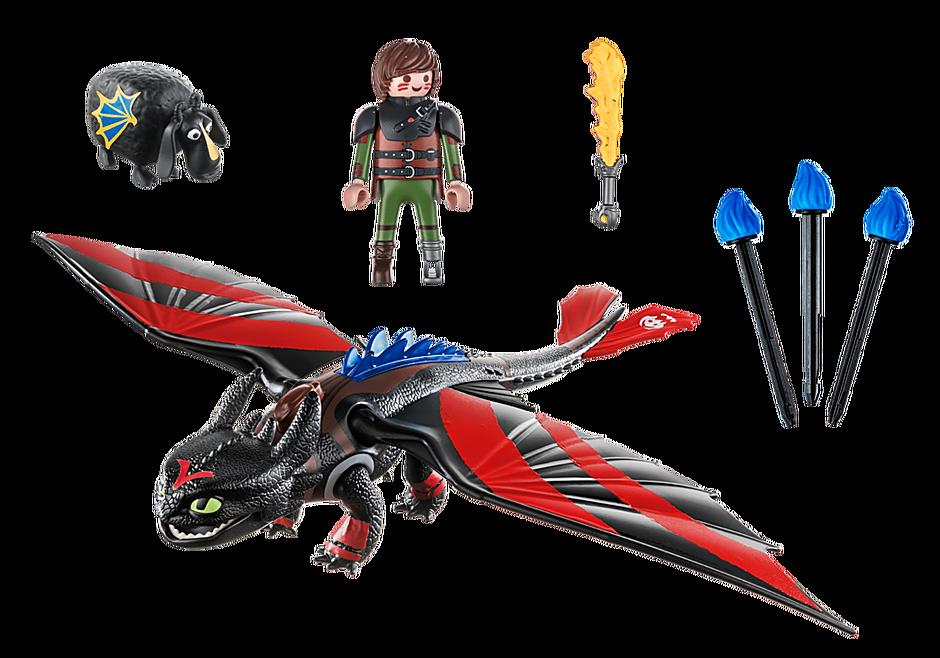 Playmobil 70727 - Dragon Racing: Hicks with Toothless - Back