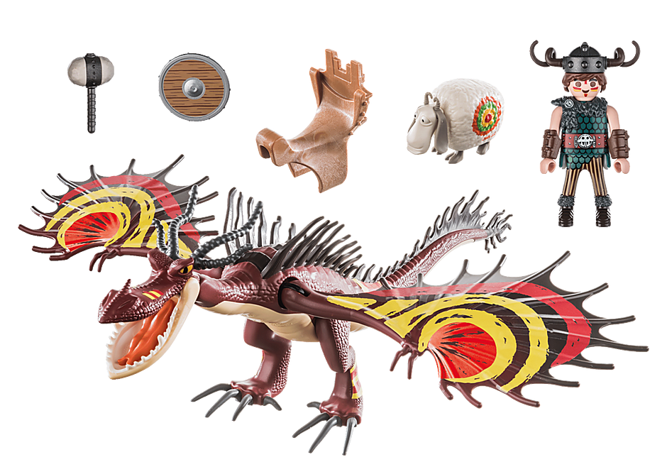 Playmobil 70731 - Dragon Racing: Snoutlout & Hookfang - Back