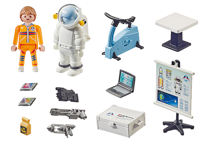 Playmobil 70603 - Gift set Astronaut Training - Back
