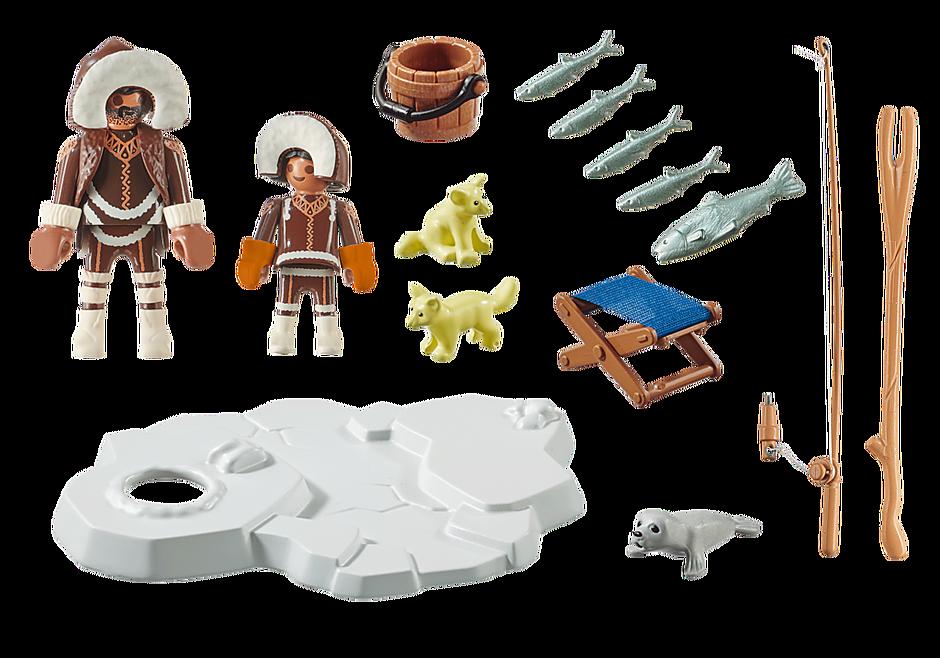 Playmobil 70606 - Gift set Inuit ice fishing - Back