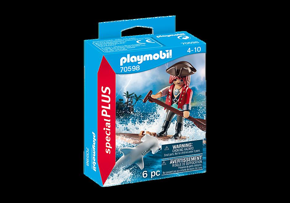 Playmobil 70598 - Pirate with Raft and Hammerhead Shark - Box