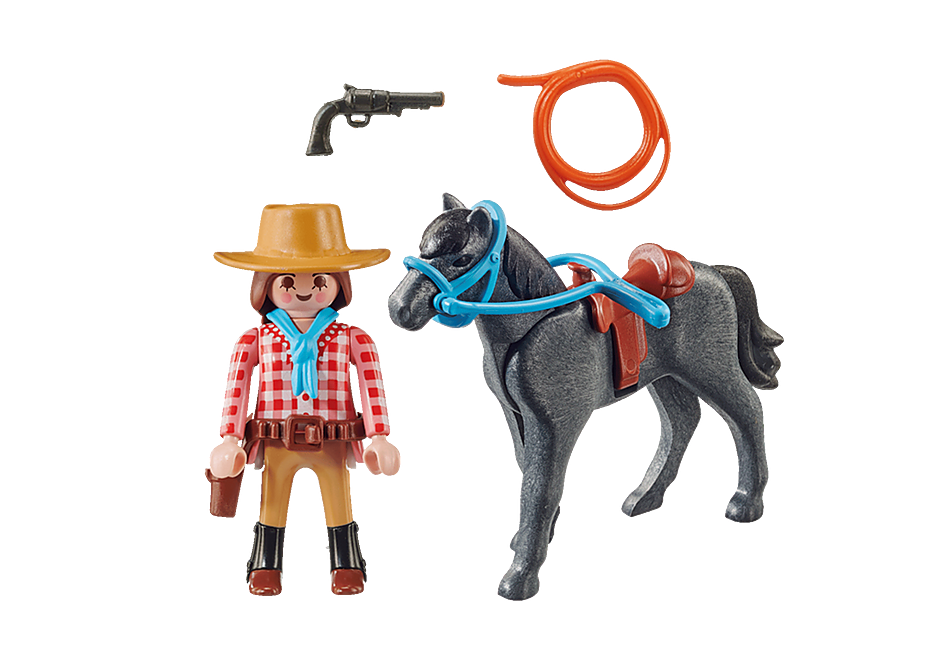 Playmobil 70602 - Cowgirl - Back
