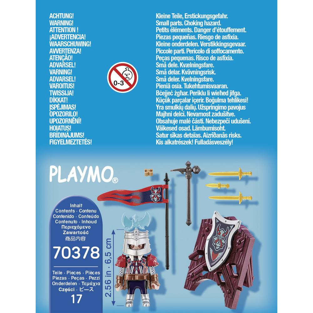 Playmobil 70378 - Dwarf knight - Back
