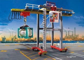 Playmobil - 70770 - GANTRY CRANE WITH CONTAINERS