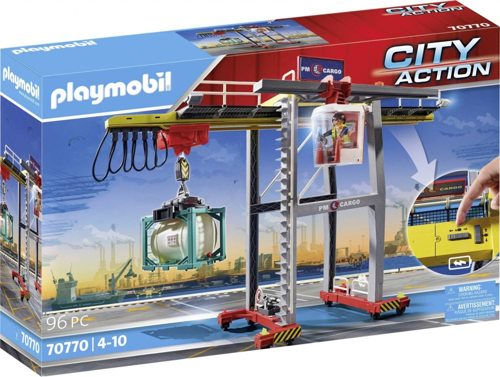 Playmobil 70770 - GANTRY CRANE WITH CONTAINERS - Box