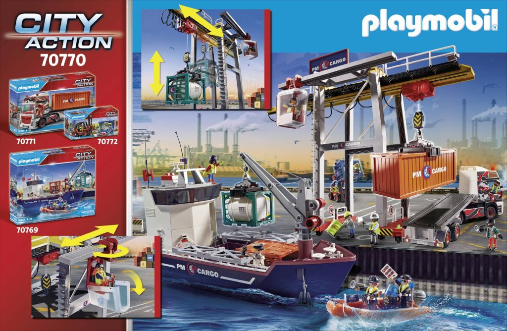 Playmobil 70770 - GANTRY CRANE WITH CONTAINERS - Back