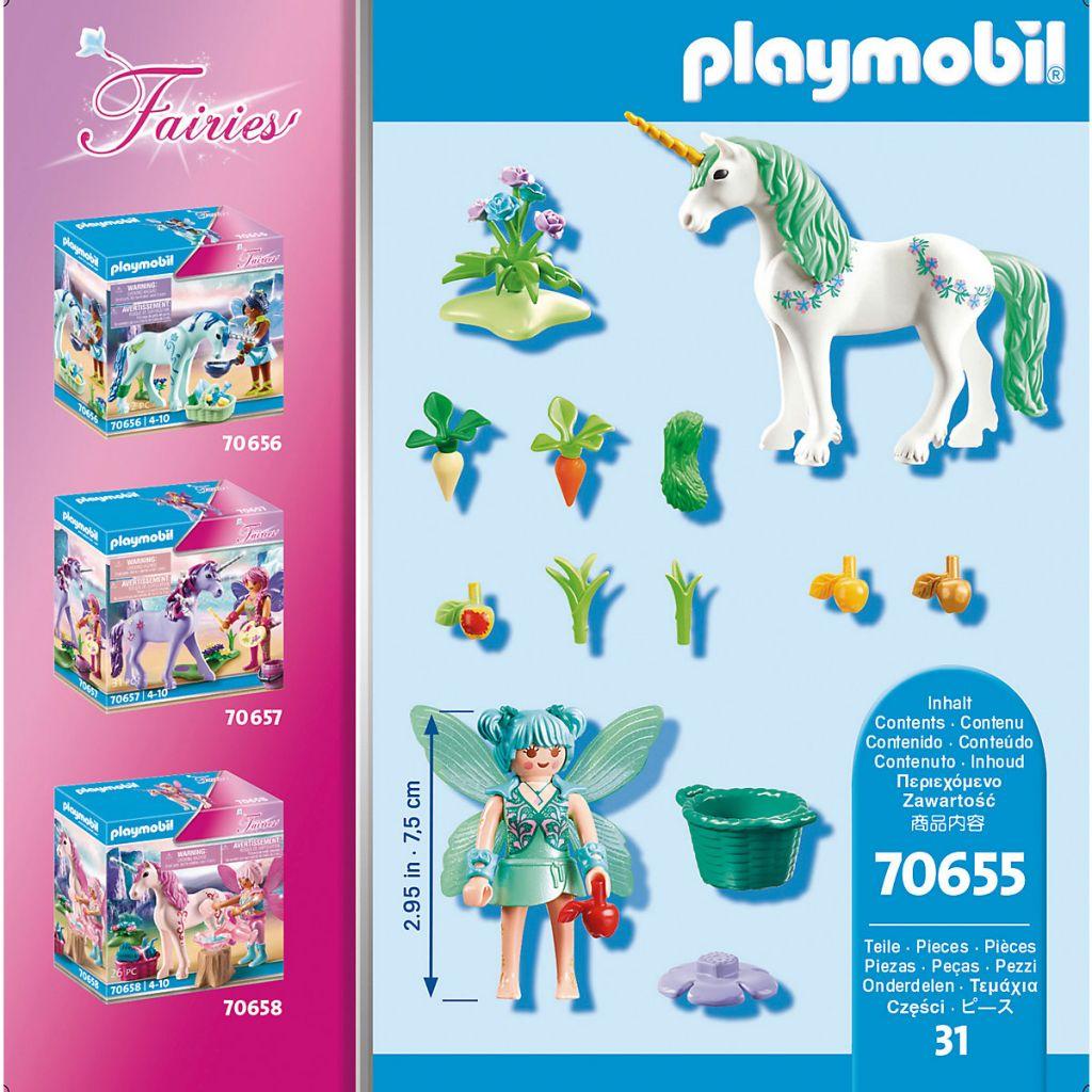 Playmobil 70655 - Unicorn with feeding fairy - Back