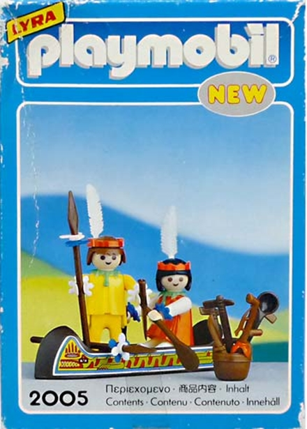 Playmobil 2105-lyr - Indians with Canoe - Back