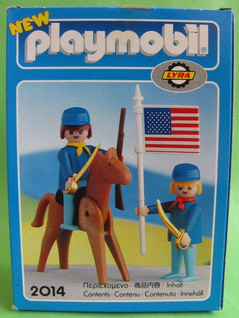 Playmobil 2114-lyr - US rider & soldier with flag - Back