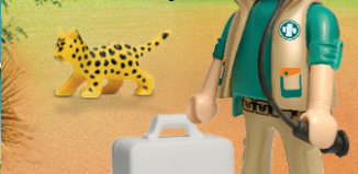 Playmobil - 30794704 - Vet with leopard