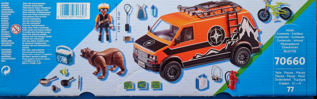Playmobil 70660-usa - Adventure Van - Back