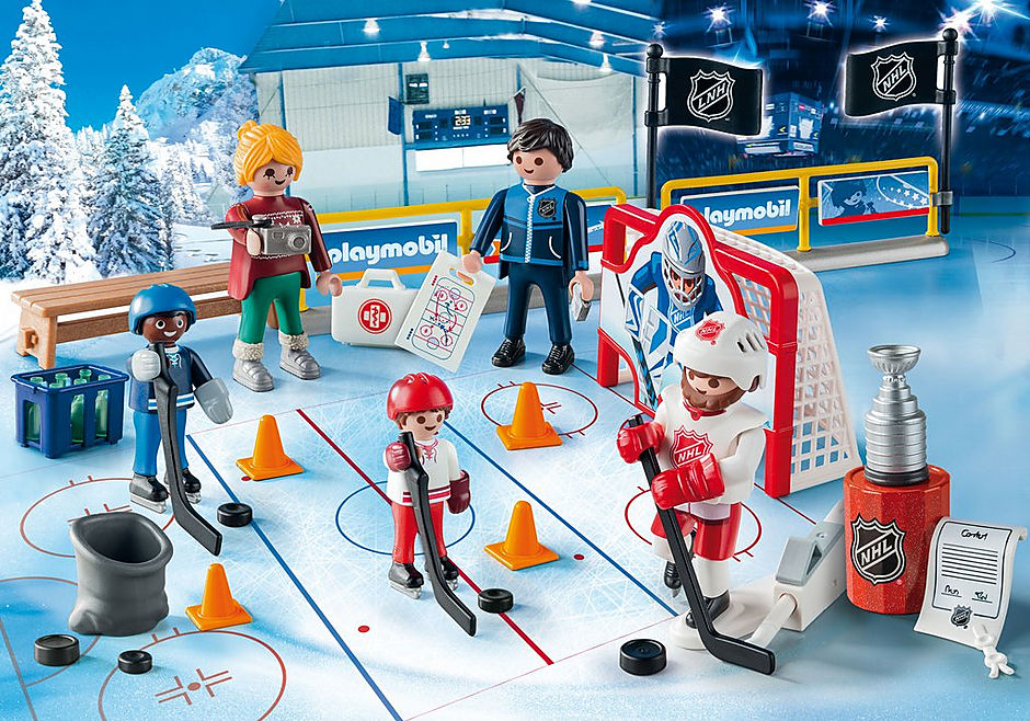 Playmobil 9294-usa - NHL Advent Calender Road to the Stanley Cup - Back