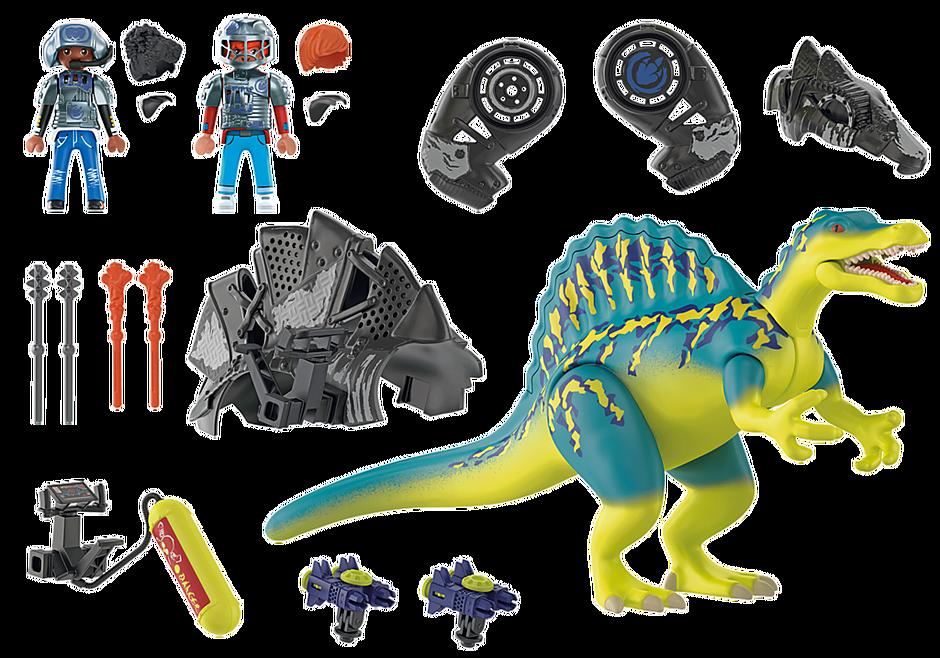 Playmobil 70625 - Dino Rise Spinosaurus: Double Defense Power - Back