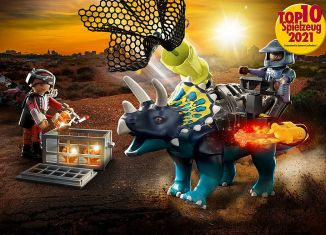 Playmobil - 70627 - Dino Rise Triceratops: Battle for the Legendary Stones