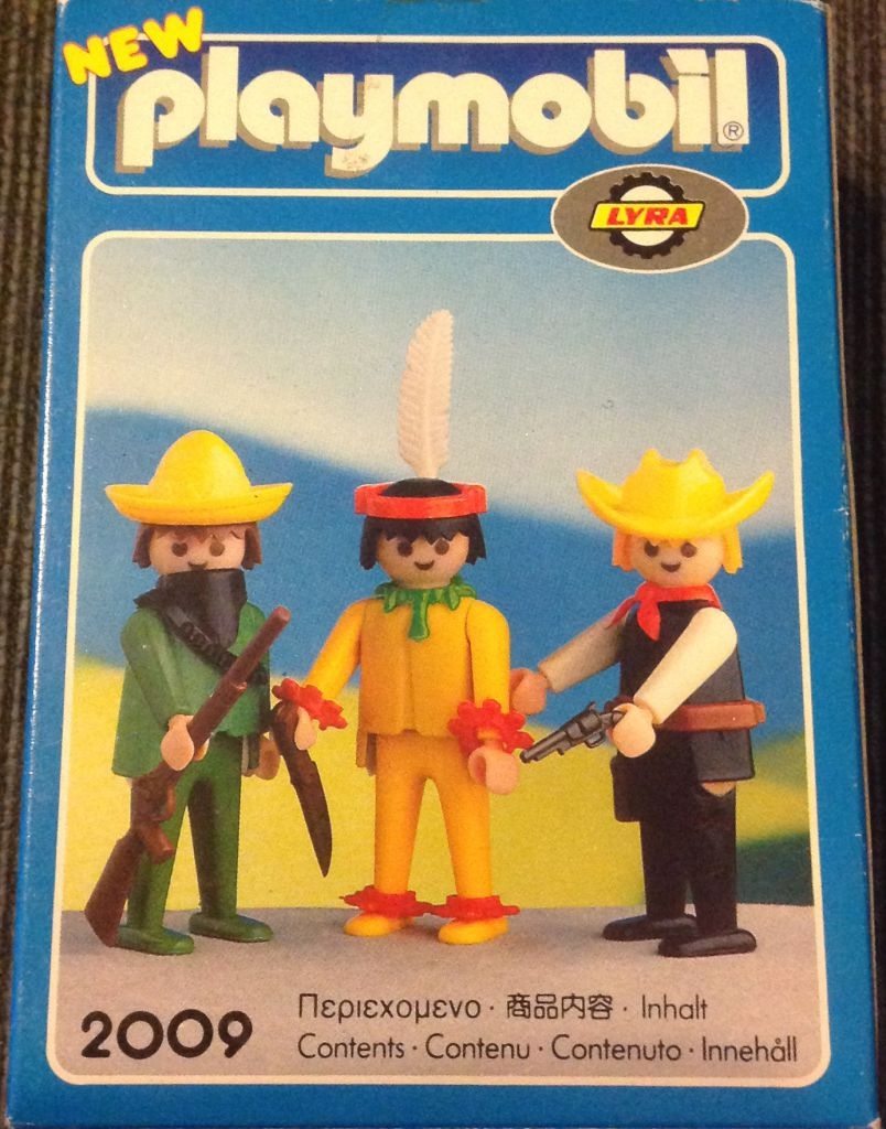 Playmobil 2109-lyr - Cowboy, Mexican and Indian - Back