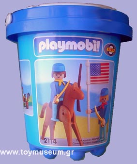Playmobil 2114-lyr - US rider & soldier with flag - Box