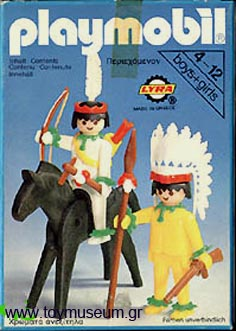 Playmobil 3580-lyr - Mounted Indian And Brave - Box