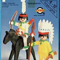 Playmobil - 3580-lyr - Mounted Indian And Brave