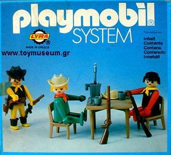 Playmobil 3595L-lyr - Three Cowboys in Saloon - Box