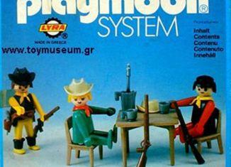 Playmobil - 3595L-lyr - Three Cowboys in Saloon