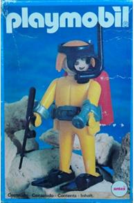 Playmobil 3807-ant - Diver - Box